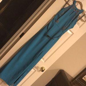Little mistress dark turquoise dress
